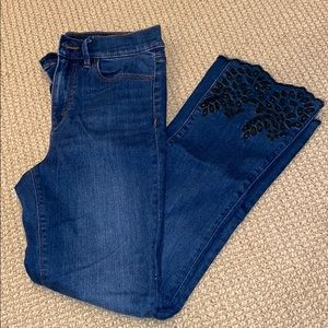 NEW Ann Taylor Crop flare jeans